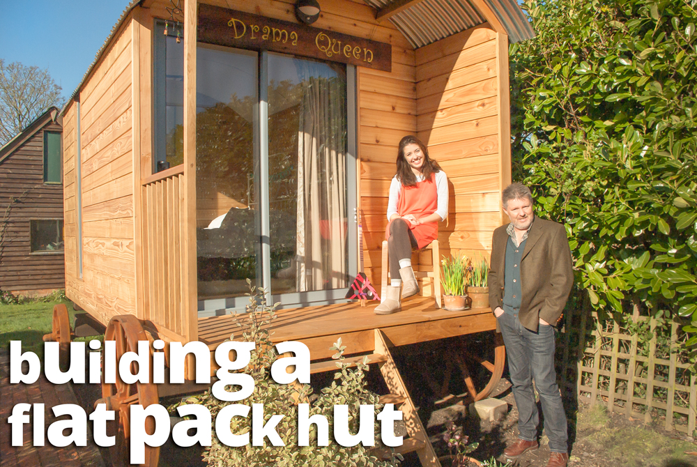 Build your own shepherds hut diy build your own shepherds for Flat pack garden room