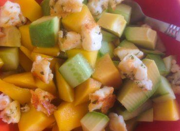 Wood Stove Recipes: Halloumi & Mango Salad