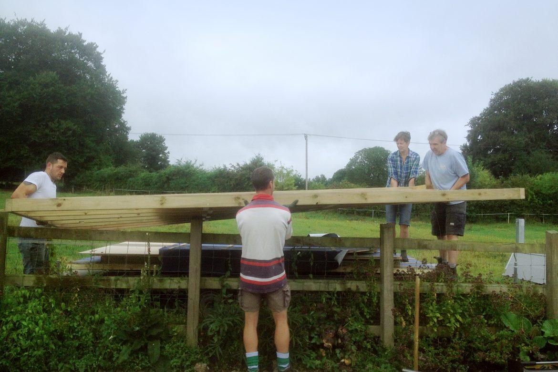 Moving A Shepherd's Hut Kit Into A Tight Spot