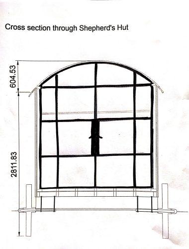 Customer glazed door sketch